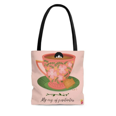 My Cup of Positivitea Tote Bag - Sappy ~Inspo~ Tees