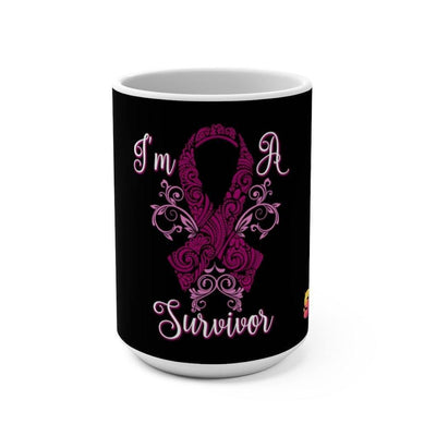 I'm A Breast Cancer Survivor Mug 15oz - Sappy ~Inspo~ Tees