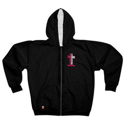 Christ Breast Cancer Awareness Unisex Zip Hoodie - Sappy ~Inspo~ Tees