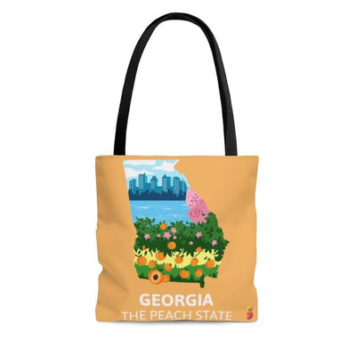 Georgia The Peach State Tote Bag - Sappy ~Inspo~ Tees