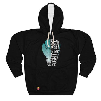 Her Fight Is My Fight Cervical Cancer Awareness Unisex Pullover Hoodie - Sappy ~Inspo~ Tees