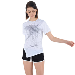 Taikkun Asymmetrical Short Sleeve Sports Tee