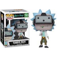RICK AND MORTY - POP FUNKO VINYL FIGURE 741 GAMER RICK 9CM