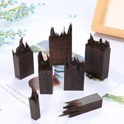 Epoxy Resin Craft Material Ebony Art Making DIY Stamp Jewelry Making Necklace Pendant Landscape Decoration Natural Wood