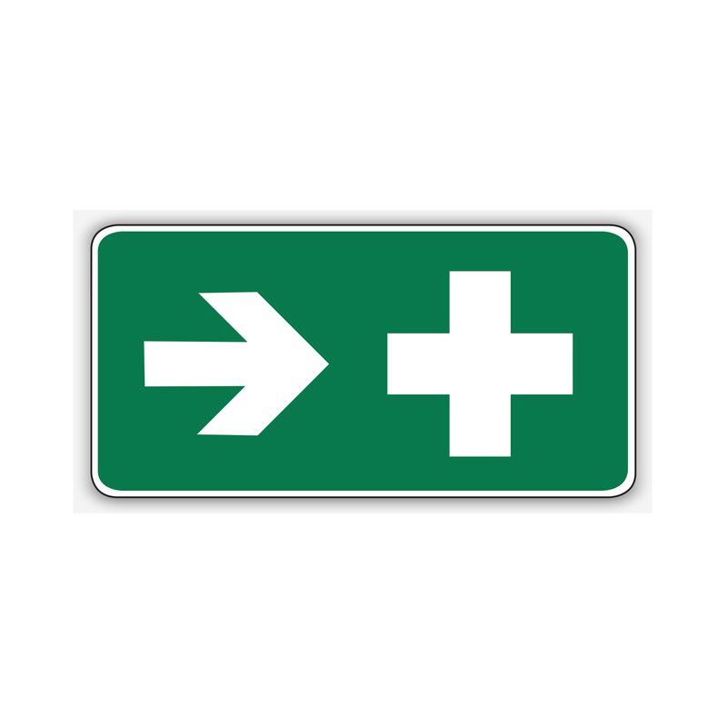 FIRST AID (RIGHT ARROW)