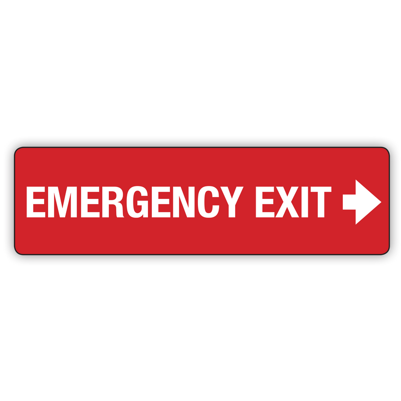 EMERGENCY EXIT RIGHT ARROW