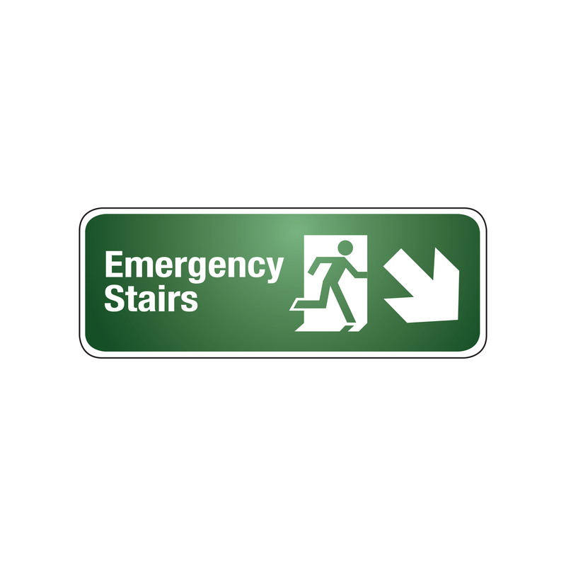 EMERGENCY STAIRS (DOWN RIGHT ARROW)