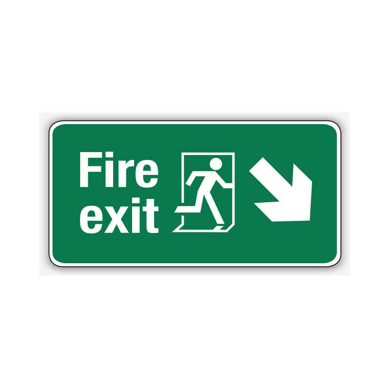 FIRE EXIT (DOWN RIGHT ARROW)