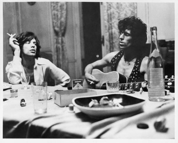 Dominique Tarlé - Mick and Keith à table