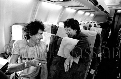 Claude Gassian - Keith Richards & Mick Jagger plane