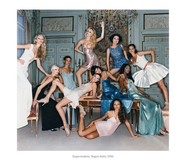 Michel Comte - The Queens, Supermodels in Versace , Vogue Italie 1994