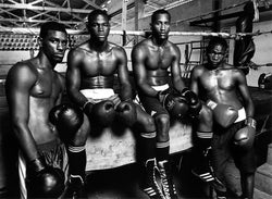 "Thierry Le Gouès - Havana Boxing Club, ""4 Boxers sitting on the ring"""