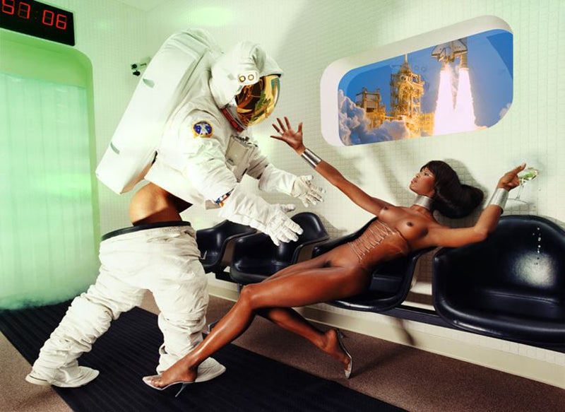 "David Lachapelle - Naomi Campbell, ""Houston we have a Problem"""