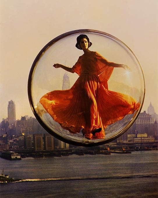 Melvin Sokolsky - Over New York, Harper's Bazaar 1963