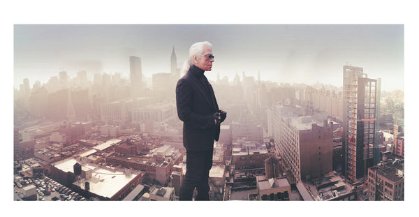 Simon Procter - Portrait of Karl Lagerfeld, The Starrett Lehigh Building offices 2006 NYC