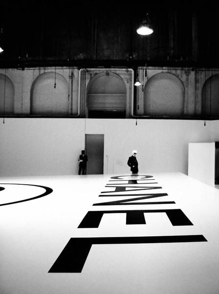 Simon Procter - Lagerfeld Above Chanel logo, 2004/2005 Fall Winter, Haute / couture show