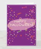 Happy Halloween Purple Card