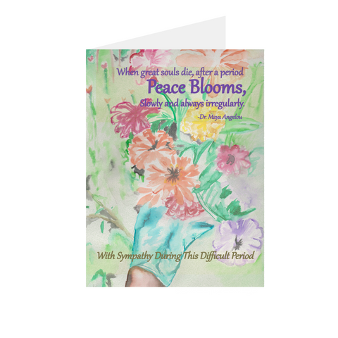 With Sympathy - Peace Blooms Greeting