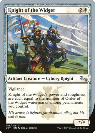 Knight of the Widget [Unstable]