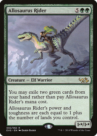 Allosaurus Rider [Duel Decks Anthology: Elves vs. Goblins]