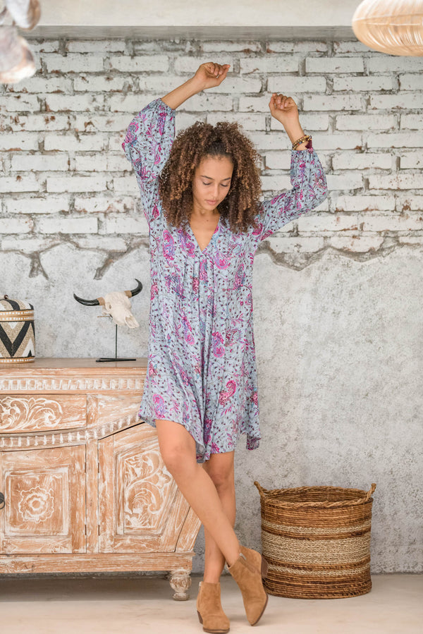 Salty Skin Tunika Paisley Grey