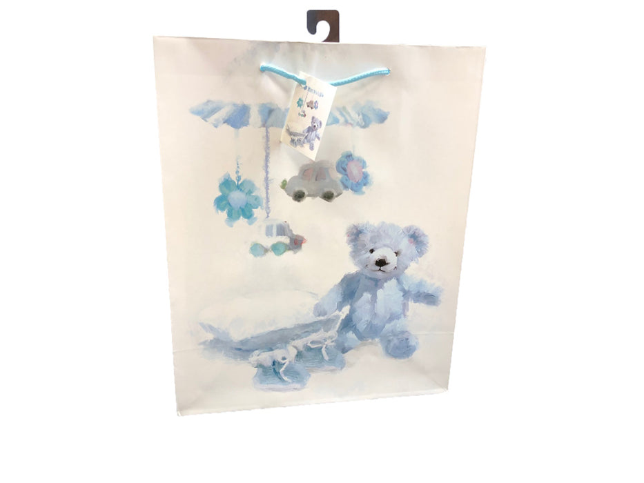 Gift Bags 18 pieces set Premium with labels - Teddy with Balloons and Toys