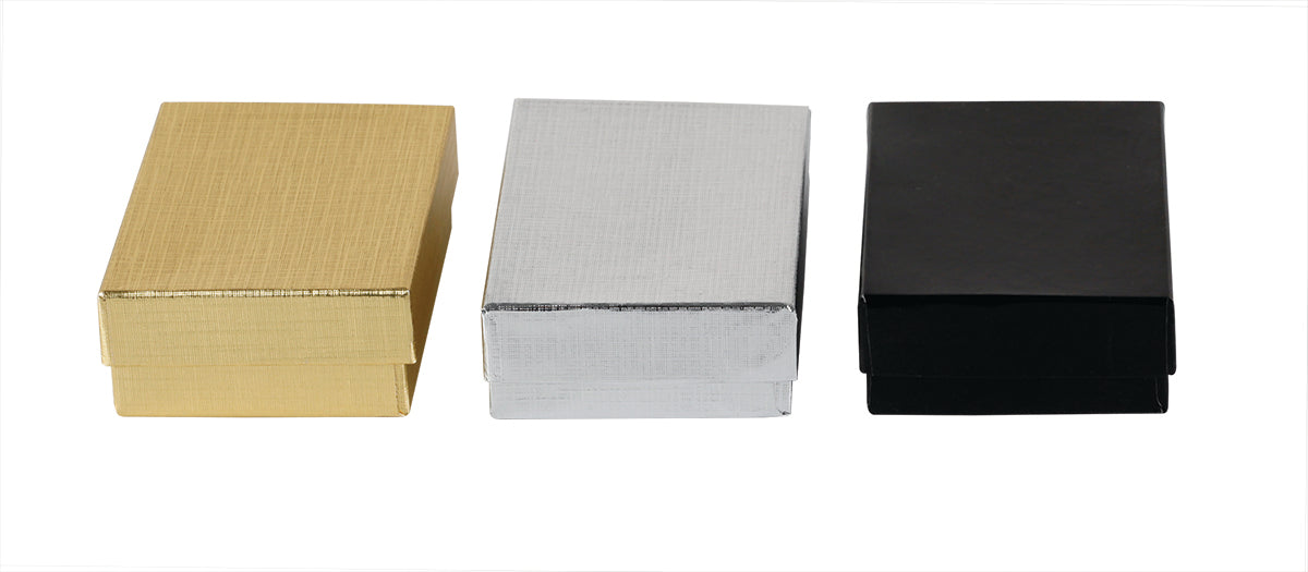 Kraft Jewelry  Gift Boxes - Solid Colors -  Cotton Filled