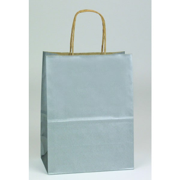 Metallic Paper Shopping Bags - 250 pieces