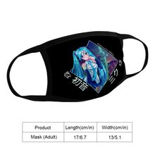 Load image into Gallery viewer, Hatsune Miku Face Mask