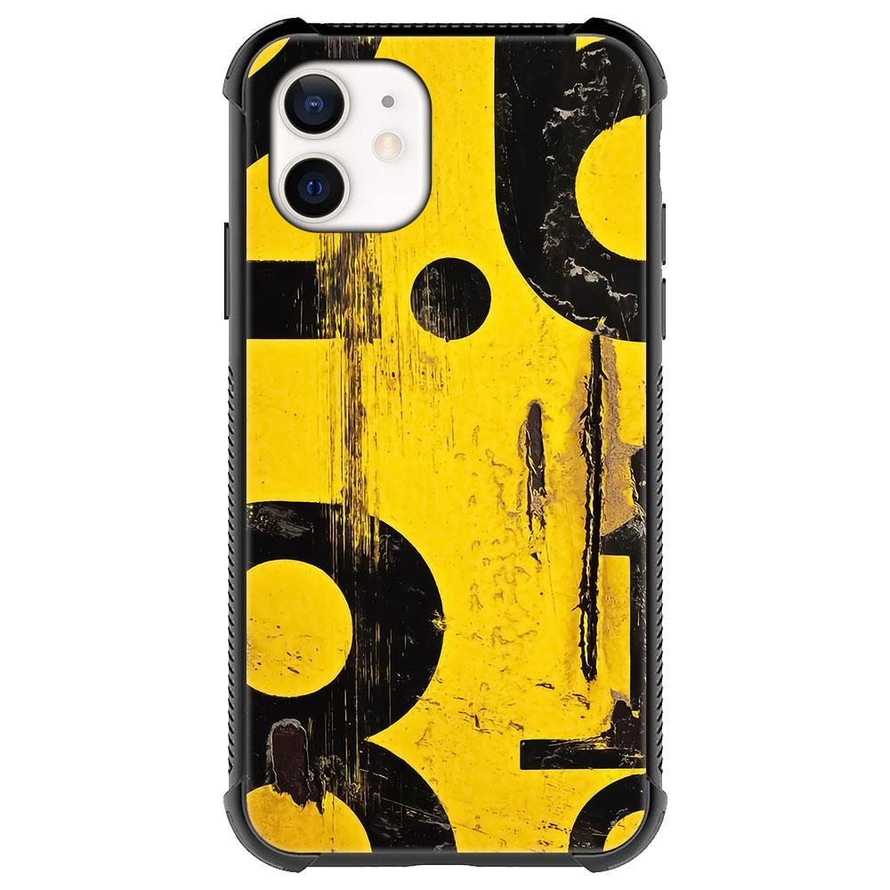 Abstract black yellow