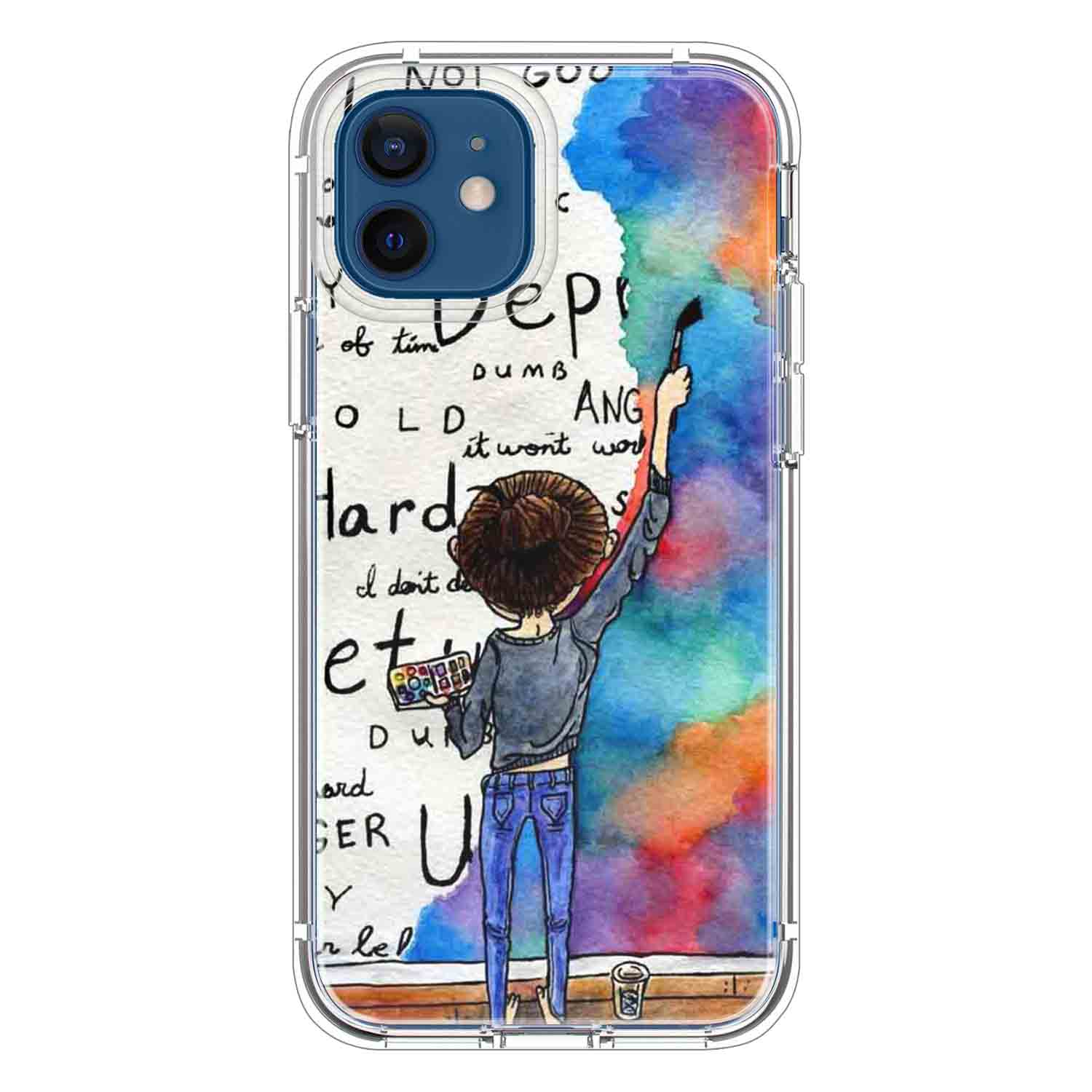 Always Keep Fighting Watercolor Painting Quotes & Sayings  for iPone 12 11 XR X Case