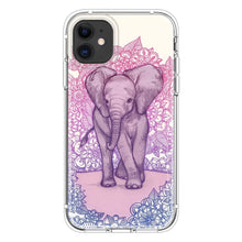Load image into Gallery viewer, Cute Baby Elephant in pink purple