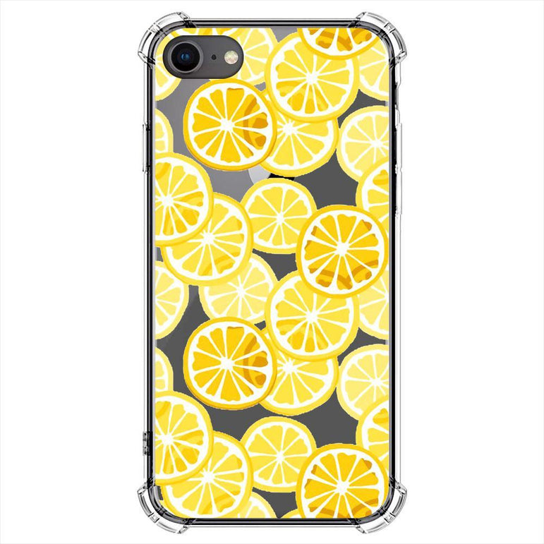 Digitally drawn yellow lemon