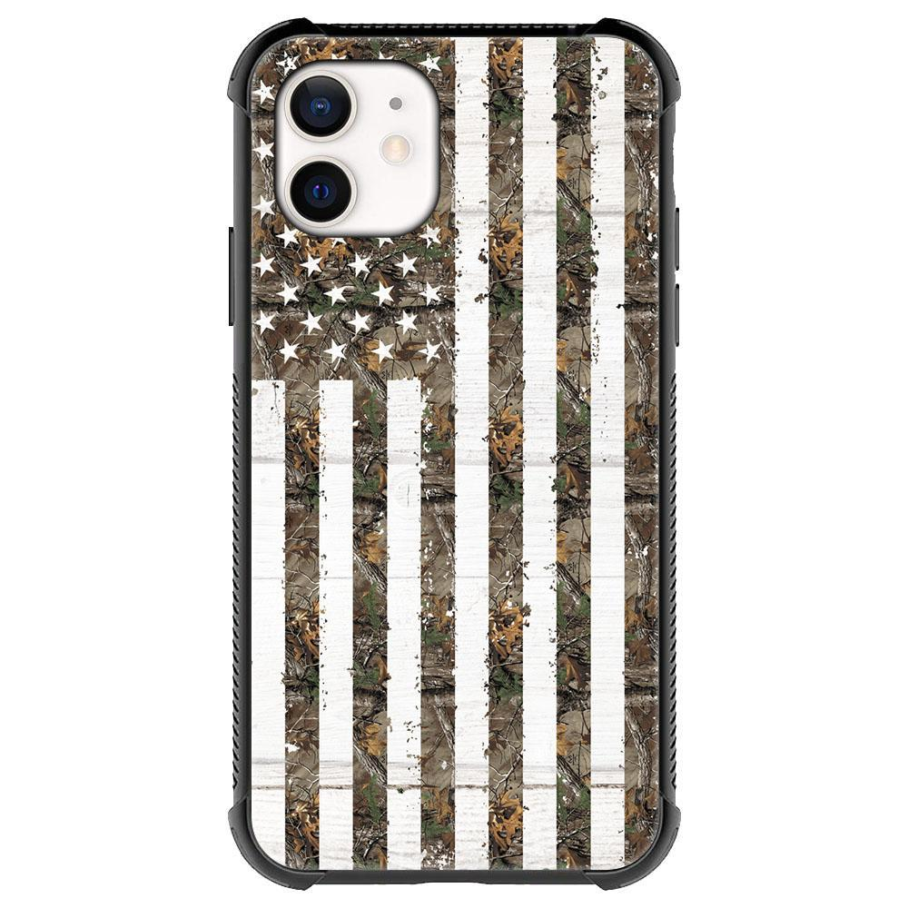 Green Camouflage American flag