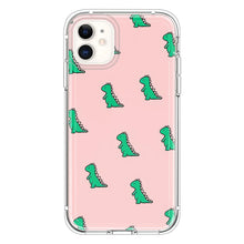 Load image into Gallery viewer, Pink background Cute Dinosaur Green