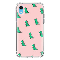 Pink background Cute Dinosaur Green