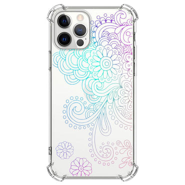 White paisley pattern