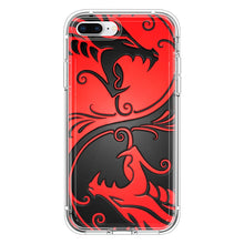 Load image into Gallery viewer, Yin Yang Dragons Red and Black