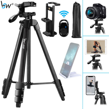Tripod for Camera Tablet 60-Inch/150cm Aluminum Phone Tripod for Xiaomi iPhone iPad DSLR Camera with remote control Mount Holder