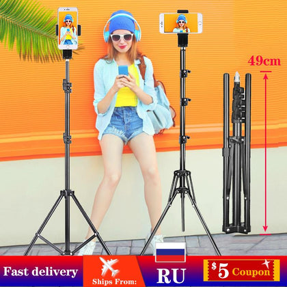 Orsda Metal Tripod Photography Light Stand Mobile Smartphone Stable Shooting Professional for Tik Youtube Tiktok Tok Vlog Live