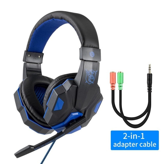 Professional Led Light Gamer Headset for Computer PS4 PS5 Fifa 21 Gaming Headphones Bass Stereo PC Wired Headset With Mic Gifts