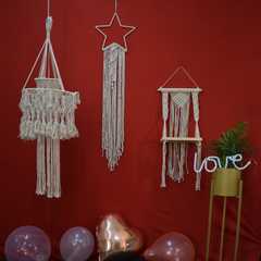 Bohemian Macrame Hanging Shelf