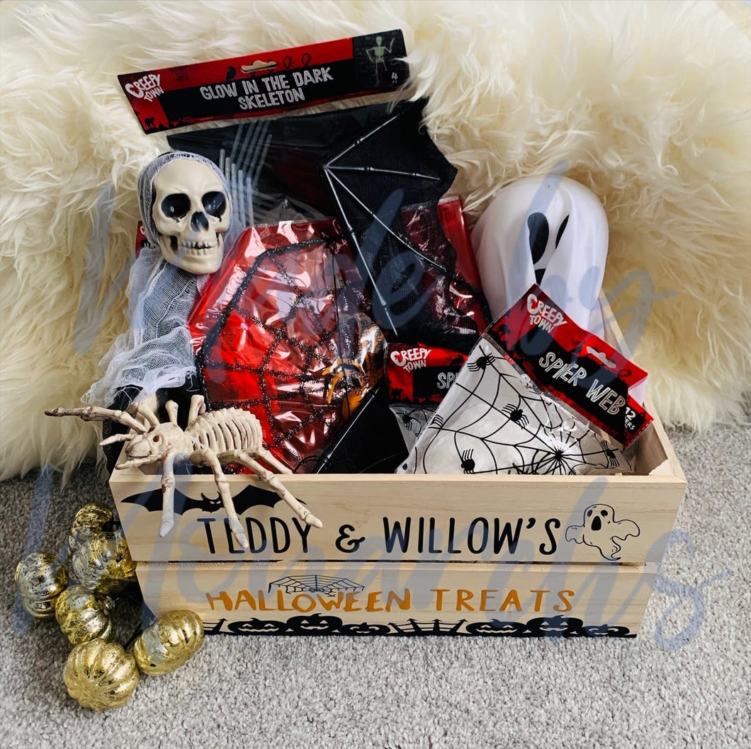 Personalised Halloween Treats Crate