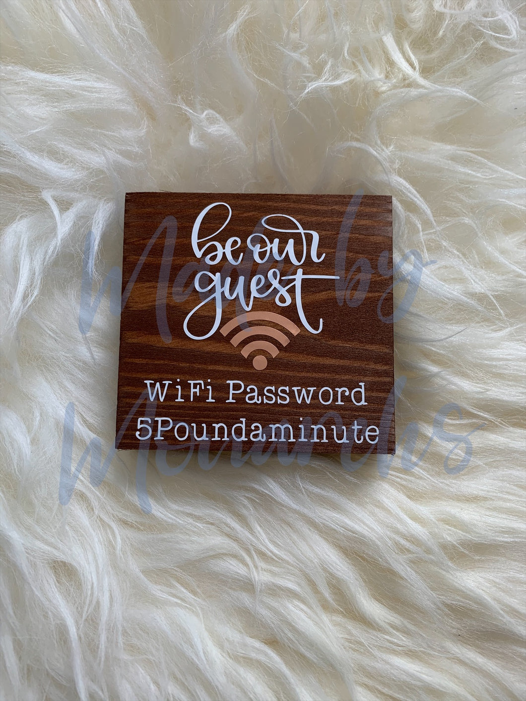Wooden WiFi Password Sign