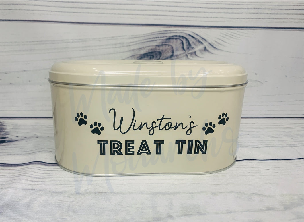 Personalised Pet/Dog Treat Tin