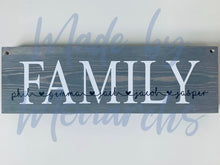 Load image into Gallery viewer, Wooden Family Sign