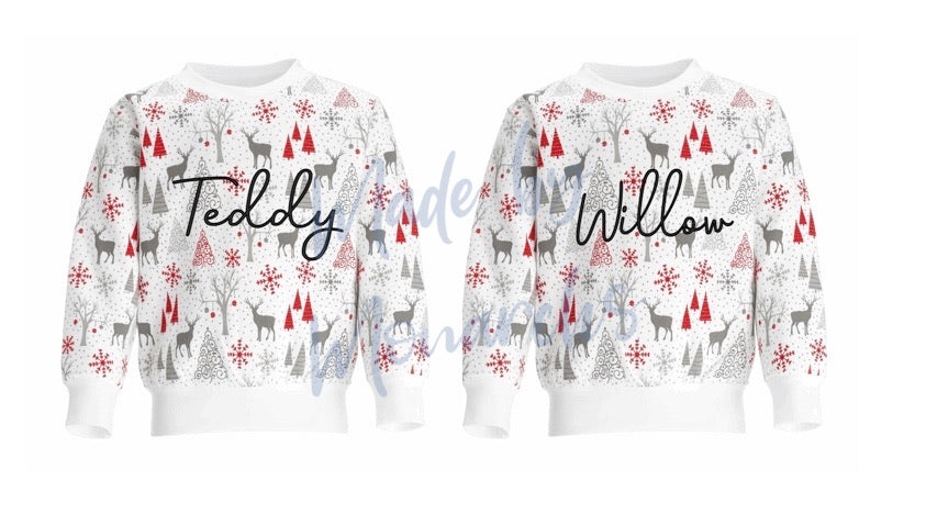 Children's Personalised Christmas Jumpers