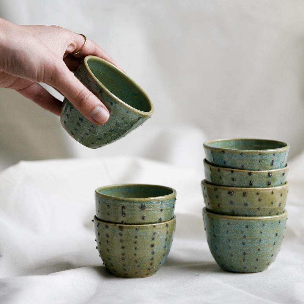 Coffee cups with dots - Vocaz ceramics