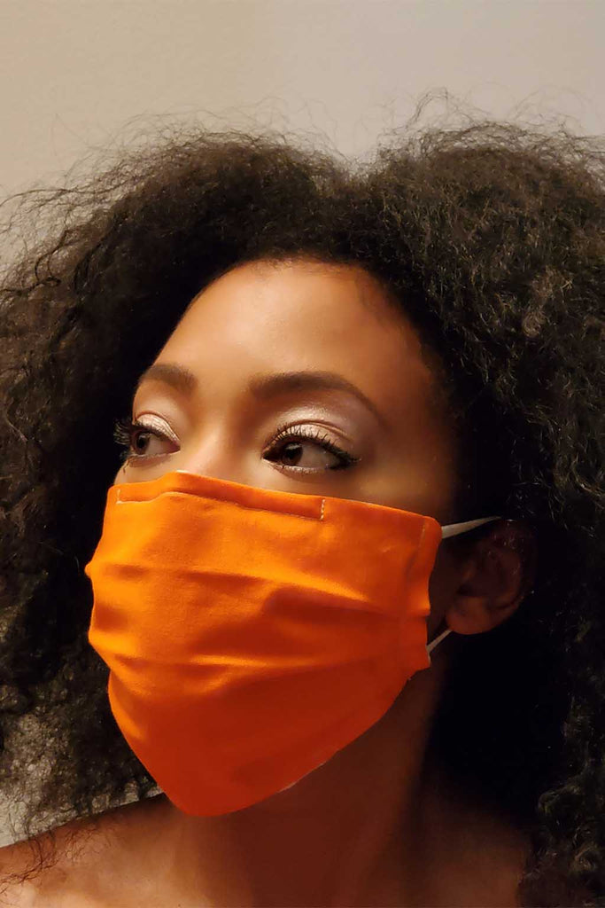 Solid Pleated Face Masks - Aysha louise