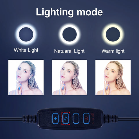 USB LED Selfie Ring with Tripod